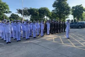 ข้าราชการตำรวจ สภ.บ่อวิน ถวายสัตย์ปฏิญาณเพื่อเป็นข้าราชการที่ดีและพลังของแผ่นดิน ประจำปี 2563 เนื่องในโอกาสวันเฉลิมพระชนมพรรษาพระบาทสมเด็จพระเจ้าอยู่หัว 28 กรกฎาคม 2563